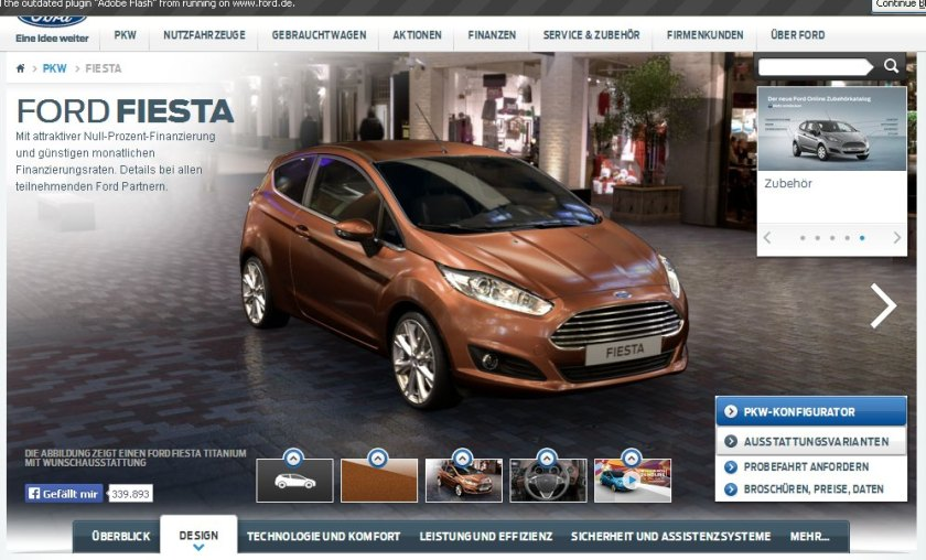 2015 Ford Fiesta colour Torino Brown