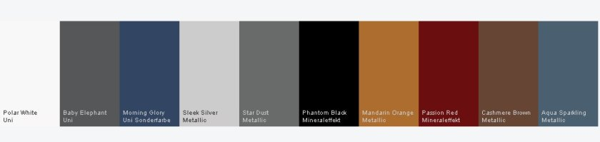 2015 Hyundai i10 colours. This is not the best reproduction of these colours, is it?