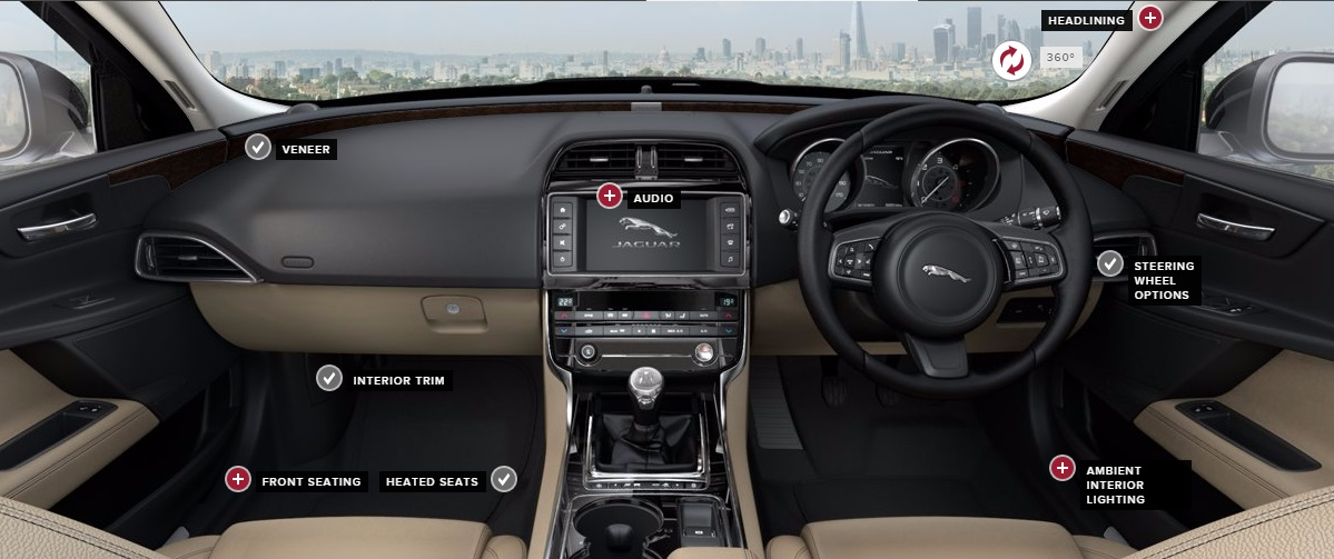 2015 Jaguar XE: A Rather Dull Range Of Interior Colourways.