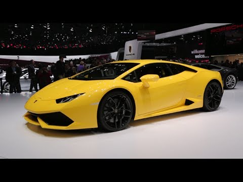 2015 Lamborghini Hurracan. No chrome. Just yellow paint on evertything except the glass.