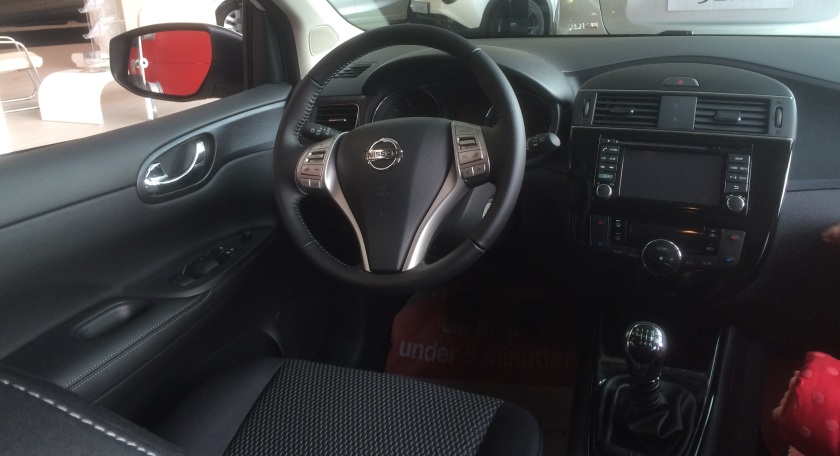 2015 Nissan Pulsar interior, mid-range model.