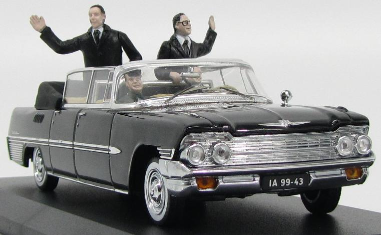 Model Comrades : Brezhnev and Erich Honecker take the air in a ZIL-111