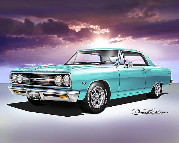 1965 Chevelle SS - is this art? Image from fineartamerica.com Technically accomplished, yes, but it relies on the appeal of the subject.