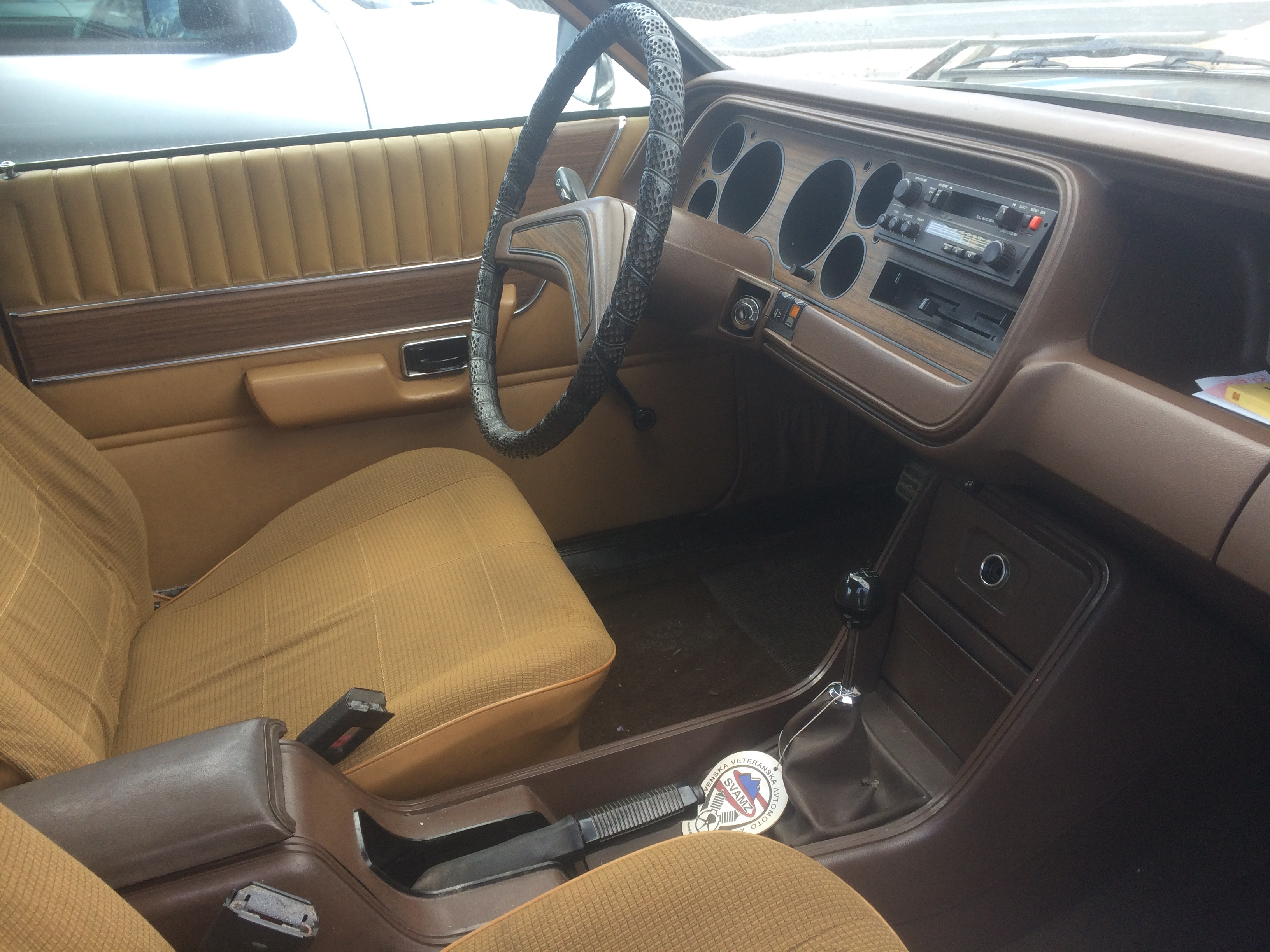 1976 Ford Granada 2300 Driver Seat And Dash Driven To Write