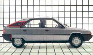 1985 Citroen BX profile-bumper