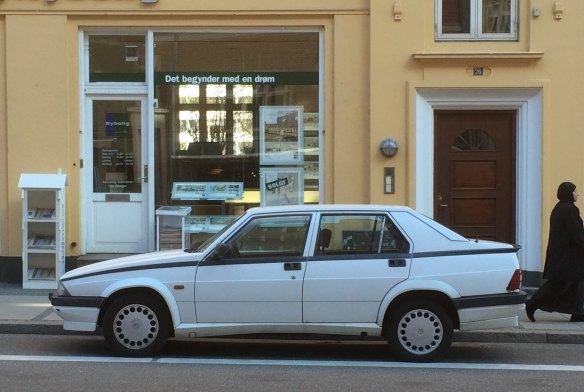 1990 Alfa Romeo 75. Not very rusty.