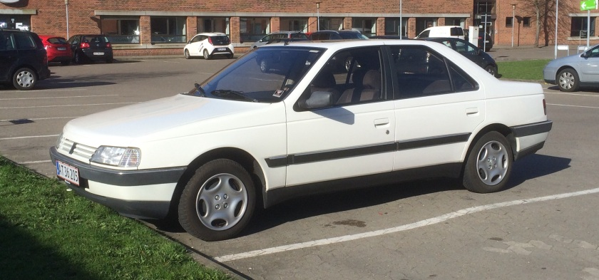 1992 (?) Peugeot 405 SRi seen in Kolding, Denmark.
