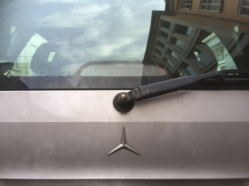 1997 Mercedes A-class bootlid badge, or part thereof.