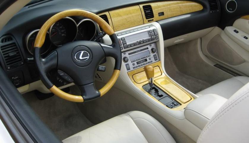 2002 Lexus SC430 interior.