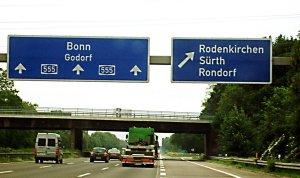 2015 Bonn A555 motorway
