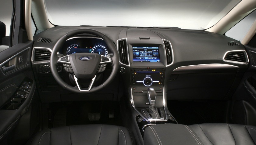 2016 Ford Galaxy interior. Image: Ford