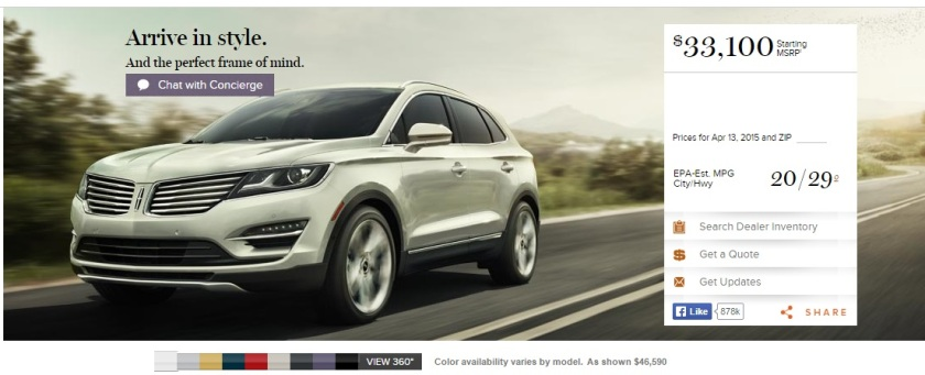 Lincoln MKC. It´s a Kuga underneath.Image: Lincoln.