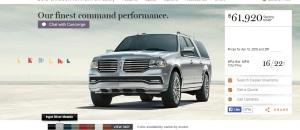 2015 Lincoln Navigator. Image: Lincoln.com