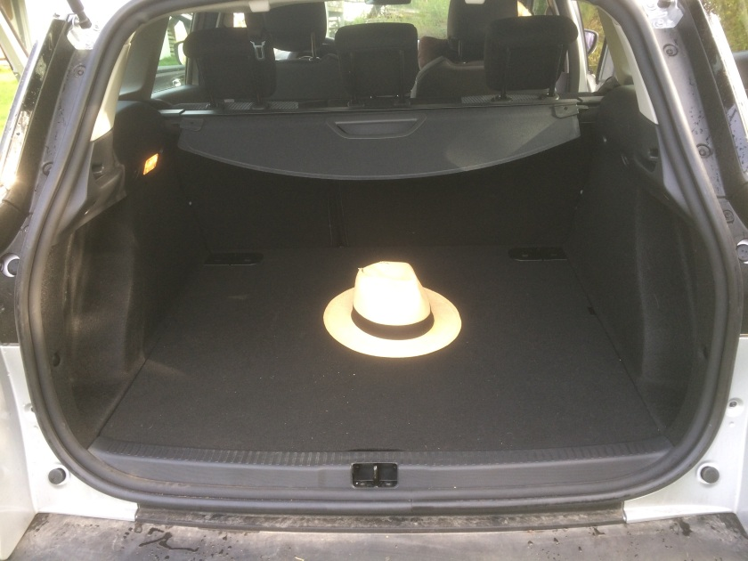 A usefully big boot as standard. Enough room to hold a very big hat.