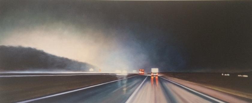 Steen Larsen. Route Noir V, 2011. Oil on canvas.