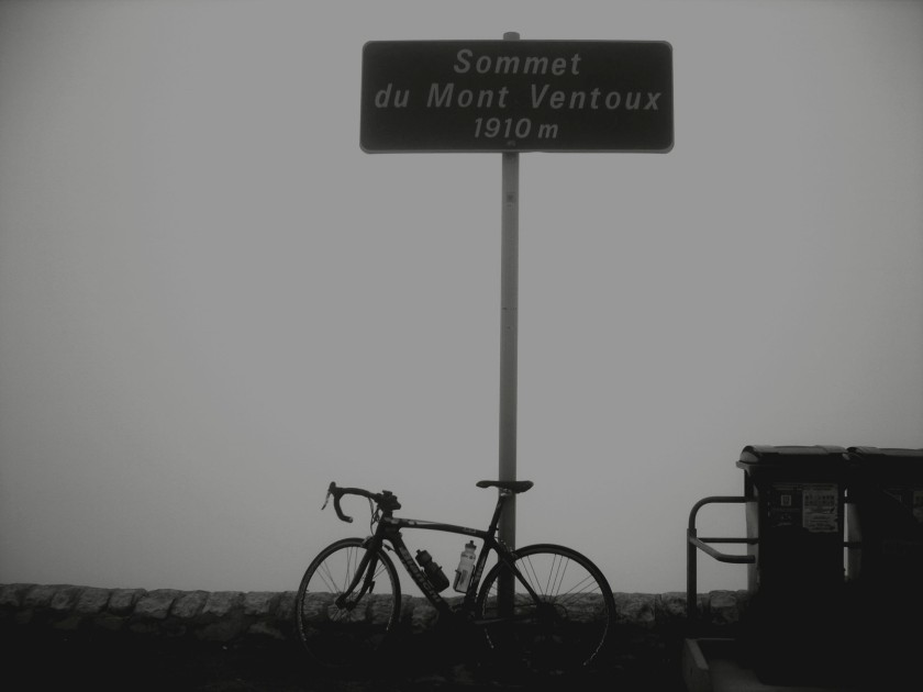 Or not. The summit under cloud. Not recommended. Image via the author.