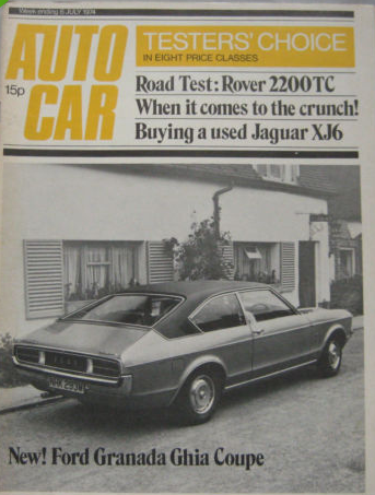Second hand car magazines - Autocar 1974