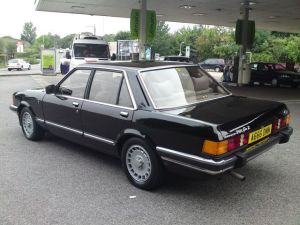 Another one for Myles Gorfe? The Ford Granada Ghia X aimed at the same market as the Vignale does now.
