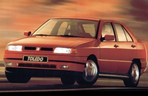 1992 Seat Toledo. Made in Spain: www.bestsellingcarsblog.com