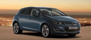 2015 Opel Astra 5 door blue