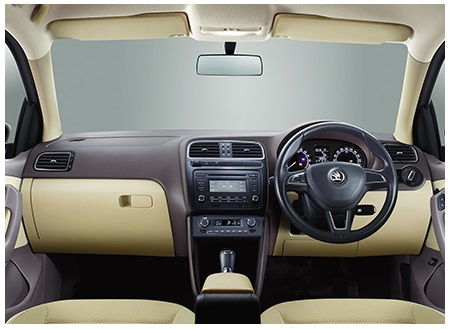 2015 Skoda Rapid, Indian-market interior: Skoda India