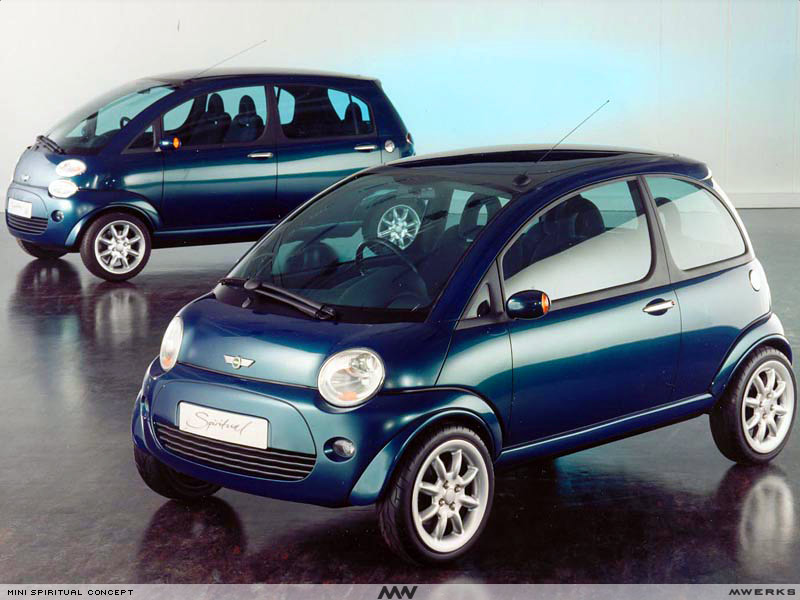 The 1995 Mini Spiritual twins first shown in 1997. Image via smallblogv8/MVerks