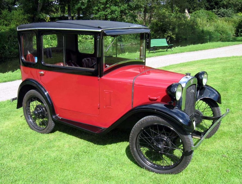 1930 Austin 7. Note the clearance from the bumper to the body and wheels: http://tommy_eliasson.ownit.name/EUbilar/Austin%201930%20seven.jpg