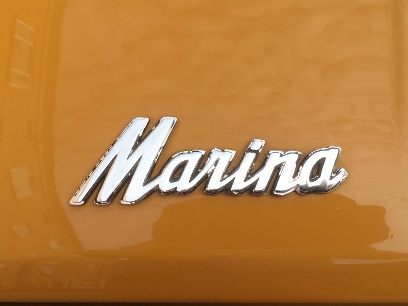 1971 Morris Marina badge