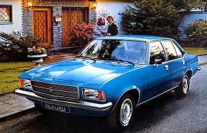 1972 Opel Rekord. In term of bumper concept, it´s the same as a 1965 Rolls Royce: best-selling carsblog