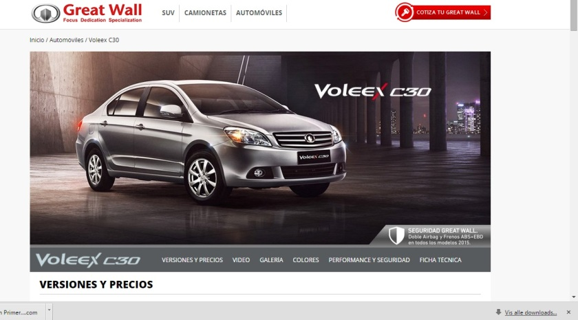 2015 Great Wall Voleex C30: GreatWall.cl