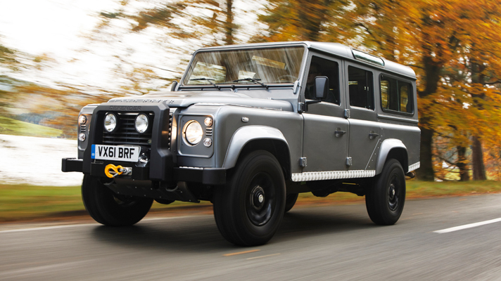 2015 Land Rover Defender. Possibly the last passenger car with guttered side-glass: Topgear.com