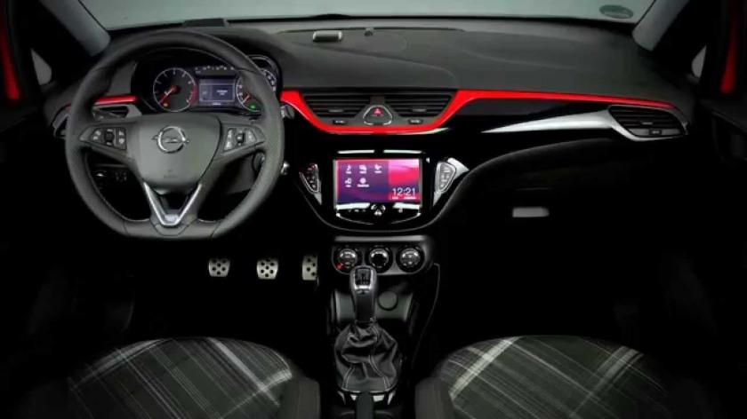 2015 Opel Corsa dashboard: Opel.dk