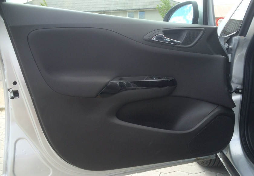 A simple piece of design - the 2015 Opel Corsa front door card.