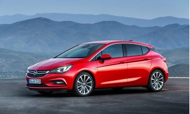 2016 Opel Astra. More athletic-looking than the last car, says Opel: Opel.de
