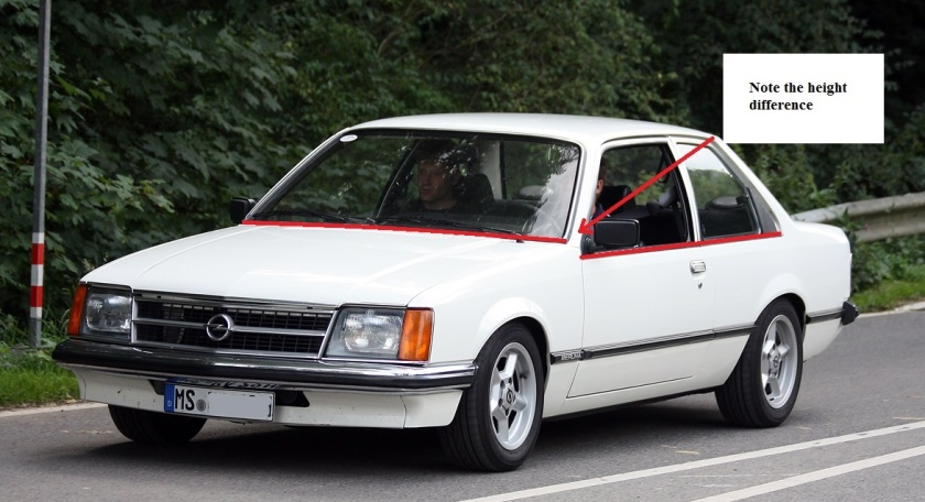 1978 Opel Commodore with no sagging line: wikipedia.org