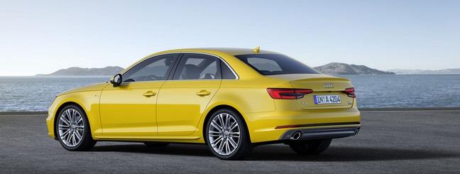 2016 Audi A4 yellow rear