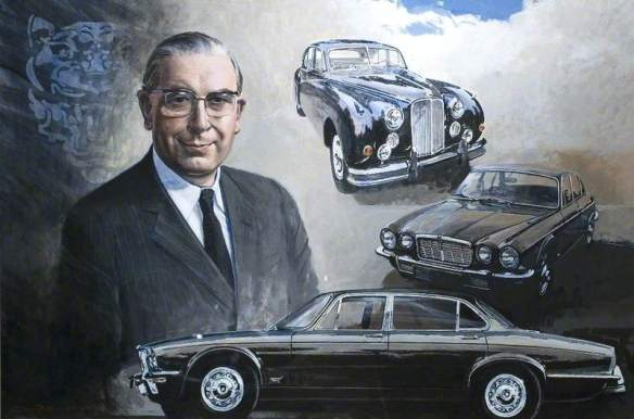 Portrait of Robert J Knight, Commissioned by Jaguar Jaguar Heritage. Image via BBC