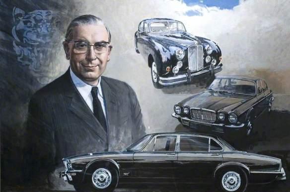Portrait of Robert J Knight, Commissioned by Jaguar Jaguar Heritage. Image via BBC
