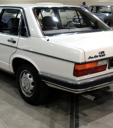 The 1976 B2 Audi 100. Original image via thegegeblog