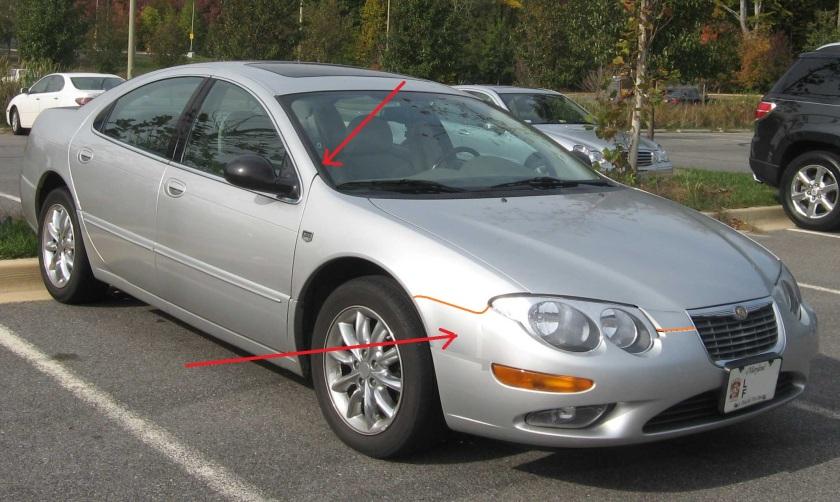 1998 Chrysler 300M moderate change