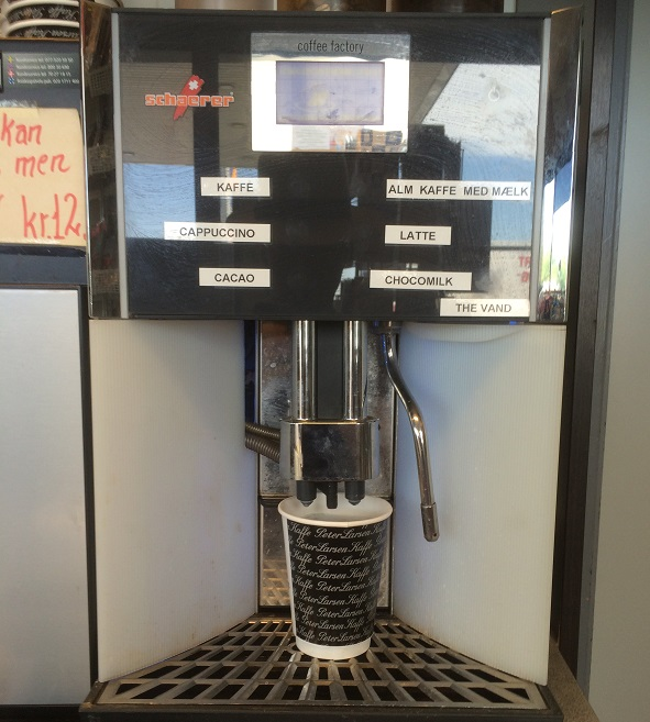 A Schaerer coffee machine in Denmark recently.