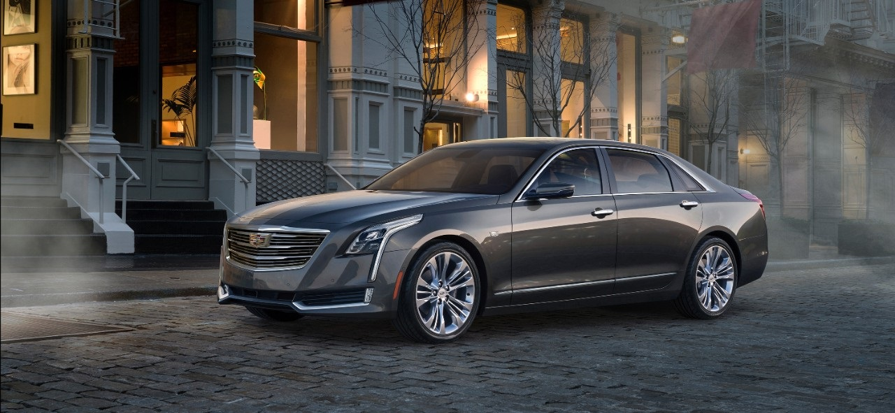 Cadillac CT6 in an unusually antique setting. Is that a nod to Fitz and Van. Image: Cadillac.com