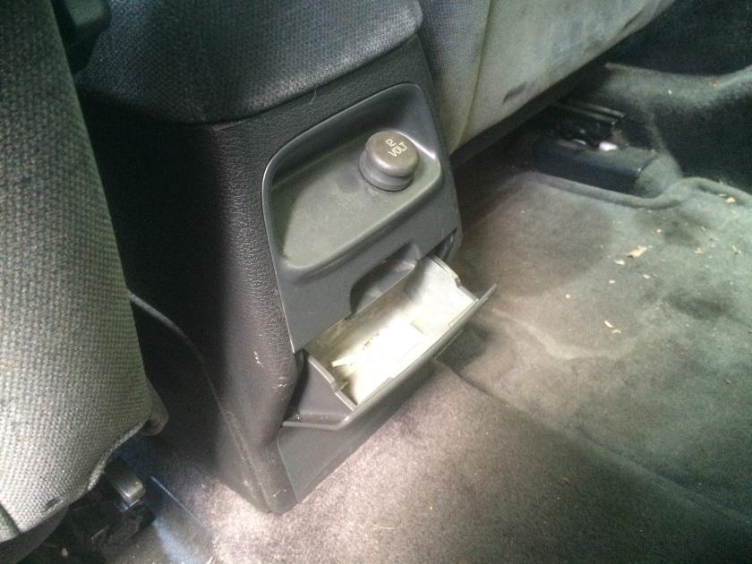 1997 Volvo S70 rear ashtray: Swedish excellence.