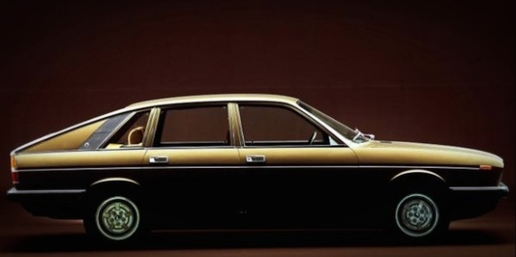 The 1976 Lancia Gamma Berlina. Image via ourclassiccars.