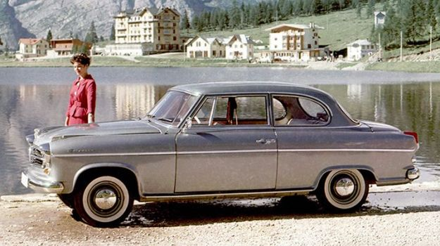 Borgward Isabella. Does this not make you want to go back to 1960-something right now? That´s probably Switzerland or Austria. Lovely: Borgward.com
