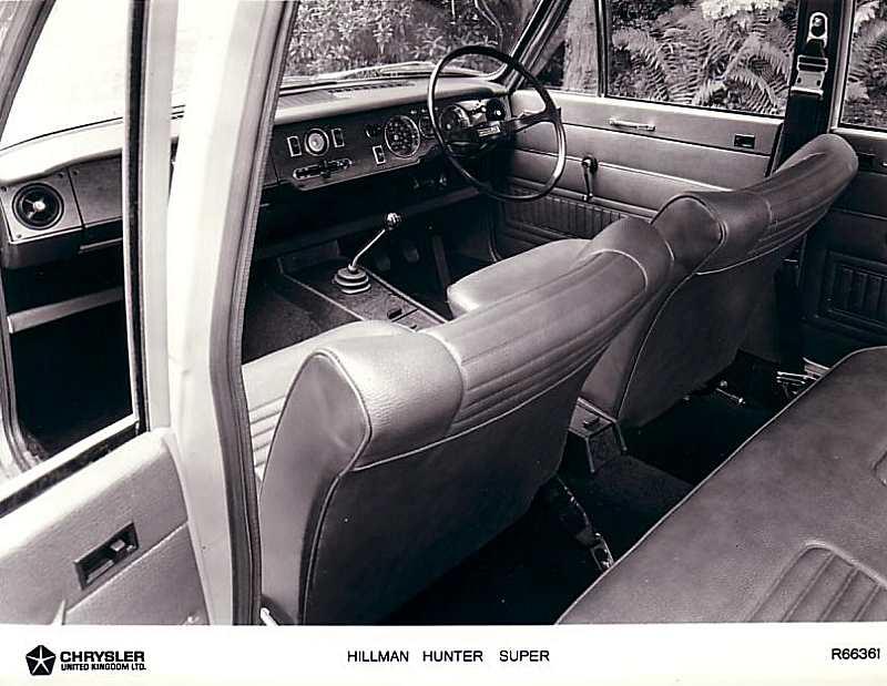 1970 Hillman Hunter Super interior: www.myclassicuk.com