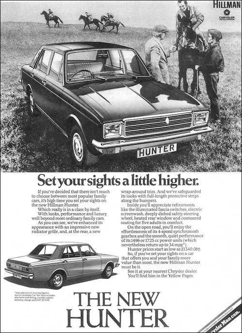 1975 Hillman Hunter advert