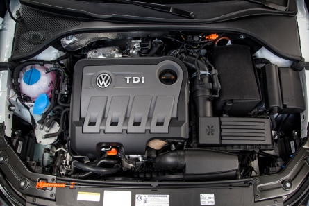 Fitted with a cheater device, a 2013 VW TDI engine.