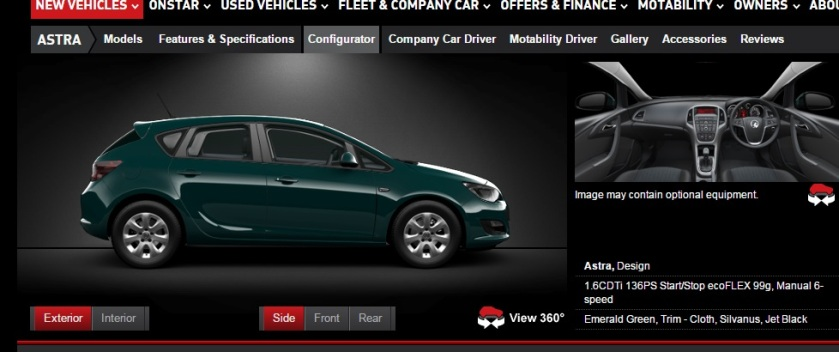 2015 Opel Astra in emerald green.