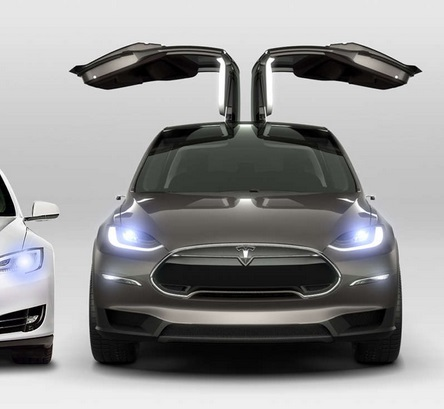 2015 Tesla Model X front view: Tesla Motors website.